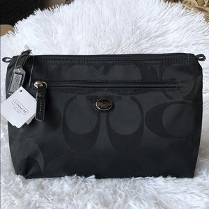 COACH GETAWAY SIGNATURE NYLON COSMETIC POUCH